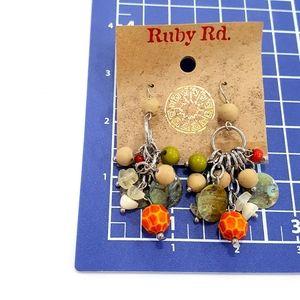 Ruby Rd. Jewelry - NWT Ruby Road Beaded Dangle Shell Giraffe Earrings